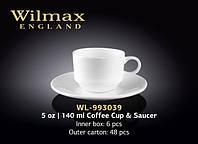Чашка кофейная с блюдцем  Wilmax