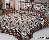 Покрывало на кровать с геометрическим узором + 2 наволочки