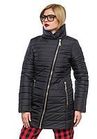 Женская модная зимняя куртка 2017 (черный), рр 44-54