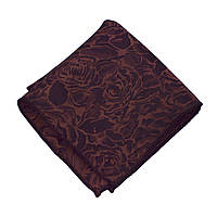Bow Tie House™ Платок коричневый в розах с отливом