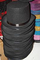 Шляпа-Цилиндр счерный с атласной лентой