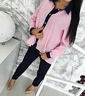 Костюм женский  блуза на пуговицах+брюки, фото 1