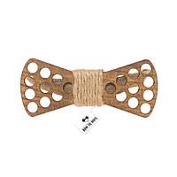 Bow Tie House™ Бабочка деревянная с отверстиями и джутовым канатом