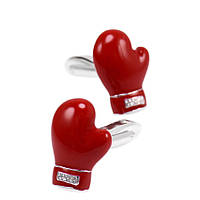 Bow Tie House™ Запонки красные - Боксерская перчатка