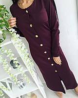 Платье женское миди с пуговицами, фото 1