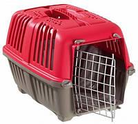 Pratico (Пратико) Переноска для собак и кошек Pratiko Pet Carrier-2 красная до 18кг 55*36*36 (металлическая дверь)