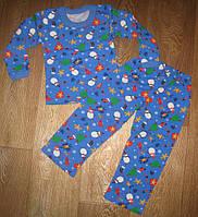 Детская теплая пижама (с начесом) для девочек и мальчиков