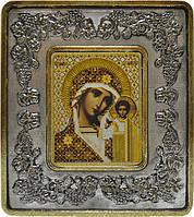 Богородица Казанская INS 702202 серебро виноград