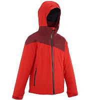 Куртка туристическая QUECHUA HIKE 900 3 в 1 красная для девочки