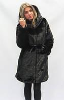 Шуба №18 длинная черная