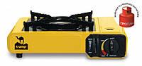 Портативная газовая плита одноконфорочная с переходником на большой баллон Tramp TRG-006