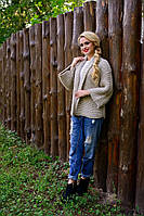 Женская вязаная кофта Лало Лайт  Modus капучино 44-48 размеры