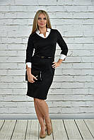 Женское офисное платье 0349 цвет черный размер 42-74