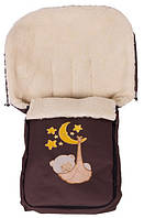 Детский зимний чехол в коляску Qvatro коричневый Мишка на Луне