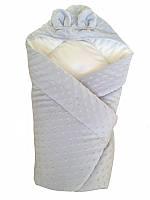 Конверт одеяло для новорожденного Twins. Голубой.
