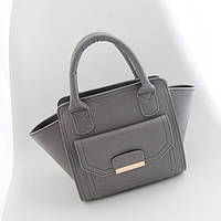 Темно-серая женская сумка трапеция, кроссбоди