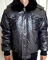 Куртка графит, черный мех 54-56 р