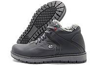 Ботинки мужские Ecco Lorandi зимние черные (экко)