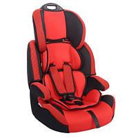 """Детское авт. кресло SIGER """"Стар"""" 1-12 лет, 9-36 кг, группа 1,2,3 (красный,серый,синий)"""