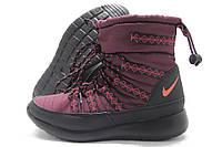 Дутики женские Nike зимние бордовые