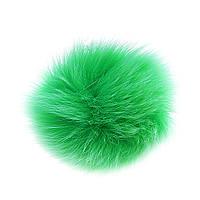 Брелок для сумок и ключей на резинке Лиса, цвет зелёный