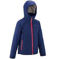 Куртка туристическая QUECHUA HIKE 900 3 в 1 фиолетовая для девочки