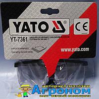 Очки защитные открытые Yato 7361 прозрачные