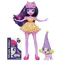 Кукла Искорка Твайлайт Спаркл из серии Спальная с пиомцем