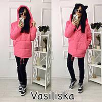 Женская стильная зимняя куртка (расцветки)