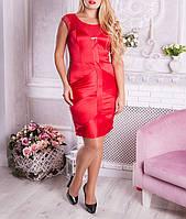 """Вечернее атласное платье """"Винетто"""" размеры от 48 по 54"""