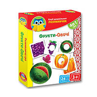 Игра развивающая Умничек Фрукты, овощи VT1306-06 (укр)