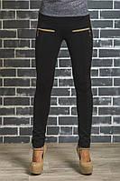 Лосины женские утепленные черные, фото 1