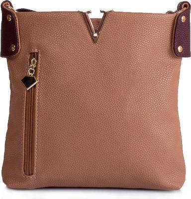 Красивая женская сумка из качественого кожзама ETERNO ETMS35302-12-1 бежевый