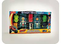 Детский набор «Эй-джей, Гэбби, Вспыш и чудо-машинки» - (2 героя и 6 машинок)