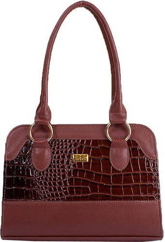 Шикарная женская сумка из качественного кожзама ETERNO ETMS35319-10 коричневый