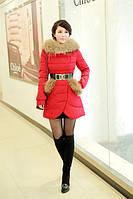 Модный женский пуховик с натуральным пухом