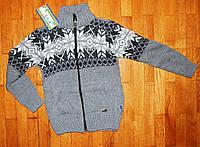 Детский теплый джемпер для мальчика Классик серый 3- 5 лет