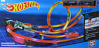 Трек Hot Speed с трассой для двух машинок, кольцом и полетом