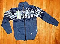 Детский теплый джемпер для мальчика Классик синий 3- 5 лет