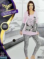 Женская домашняя одежда из Турции Night Angel 2883-R. Размер 46-48.