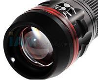 Фонарик фонарь Focus 3 Mode AAA LED с красным ободком