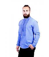 Рубашка вышитая мужская голубая