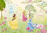 Фотообои на плотной полуглянцевой бумаге для стен 184*127 см из 1 листа: Принцессы в саду