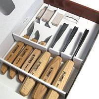 Набор резцов Narex Bystrice по дереву 138-195 мм;6 шт.+брусок; 894610 (894610)