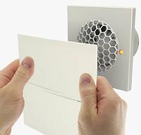 Бытовой вентилятор Вентс 100 Квайт Стайл ВТН (оборудован таймером, датчиком влажности и выключателем)