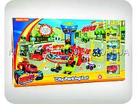 Детская парковка-гараж «Вспыш и машинки» (трек, 4 машинки) 828-58