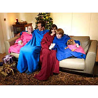 Тепла ковдра Snuggie Blanket, плед з рукавами Снагги Бланкет.