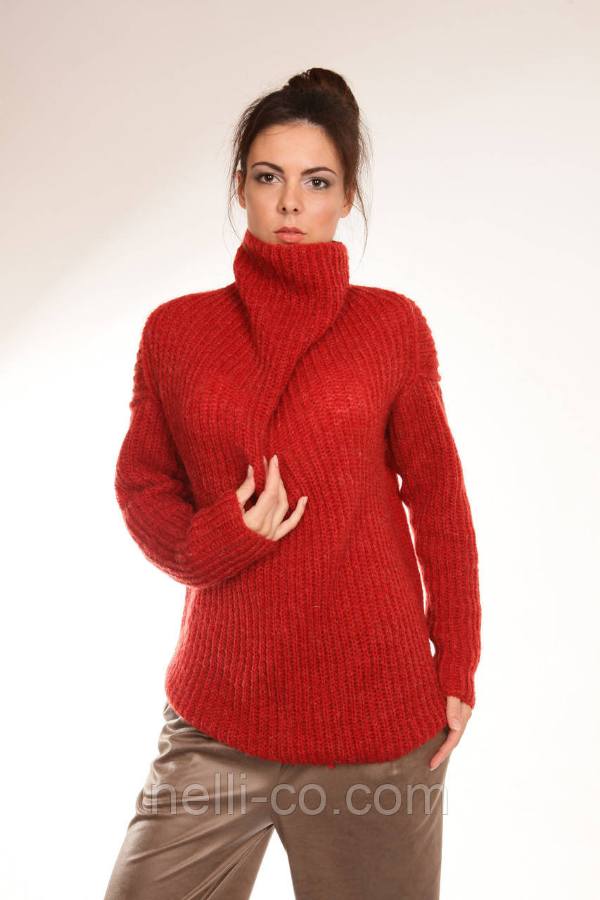 Мохеровый Пуловер С Ажурными Рукавами С Доставкой