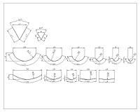 Набор из 13 стамесок для резьбы по дереву в чехле