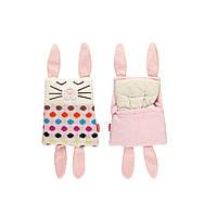 Мягкая игрушка - грелка SOXO заяц в подарочной упаковке